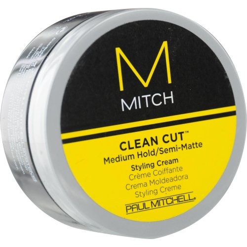 Paul Mitchell Men by Paul Mitchell Mitch Clean Cut Medium Hold/Semi-Matte Styling Cream for Men, 3 O..