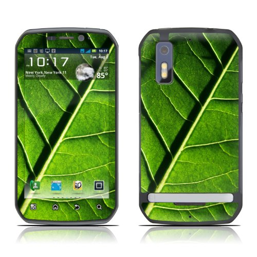 Green Leaf Design Decorative Skin Cover Decal Sticker For Motorola Photon Cell Phone