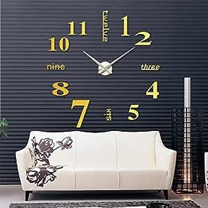 Amazon.com - relogio de parede DIY Large Watch Wall Clock Modern