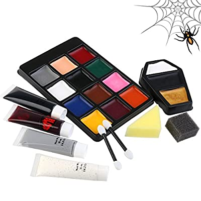 PBPBOX Halloween Makeup Face Paint Kit for Zombie Vampire from PBPBOX