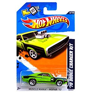 Amazon.com: Hot Wheels - '70 Dodge Charger R/T (Green) - Muscle Mania