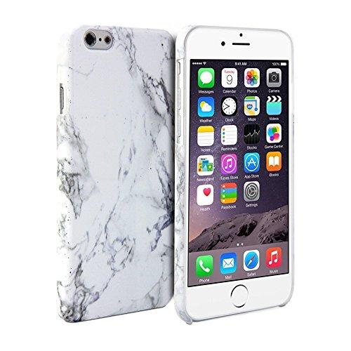 iPhone 6ケース, GMYLEハードケースのフロストを結晶iPhone 6 (4.7 inch Display)専用 - ホワイト 大理石のパターンスリムスナップオンハードバックケースカバー