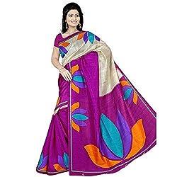Pawan Tex Bhagalpuri sree for women's (Bhagalpurimix01_rani pink)