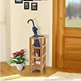 Songmics Natural Bamboo Umbrella Stand High Quality Umbrella Holder Rack for Home & Office ULUC50N