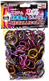 Refill Loom Bands Diy Metallicolor Zupa Loom Metallic Rainbow Colors 600ct with S Clips