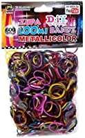 Refill Bands Diy Metallicolor Zupa Loom Metallic Rainbow Colors 600ct with S Clips