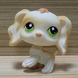 Littlest-Pet-Shop-cream-Cocker-Spaniel-Puppy-Dog-Green-Eyes-lps-347