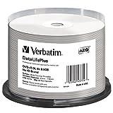 Verbatim DVD+R DL 8.5GB 8X White Thermal Printable, Hub Printable, 50 Pack Spindle  43754