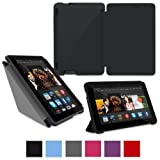 "rooCASE Case for Amazon All-New Kindle Fire HDX 7 - Slim Shell Origami Case HDX 7"" Tablet - BLACK (With Auto Wake / Sleep Cover)"