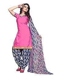 Style Amaze Glaze Cotton Pink Dress Material