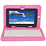 Proscan 7-Inch Capacitive Touch Android 4.1 Jellybean Tablet PC with Keyboard & Pink Case by Proscan