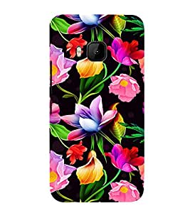 Floral Art Cute Fashion 3D Hard Polycarbonate Designer Back Case Cover for HTC One M9 :: HTC One M9S :: HTC M9 :: HTC One Hima
