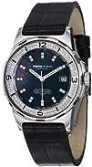 MomoDesign Pilot Diamonds Ladies Black Leather Strap Watch