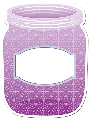 "Creative Teaching Press 6"" Designer Cut-Outs, Purple Mason Jar (6499)"