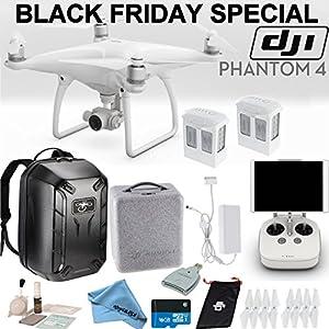 DJI Phantom 4 Quadcopter Backpack Bundle: Includes 2 Phantom 4 Batteries, Soft Padded Backpack, 16GB MicroSD Card and more... from DJI