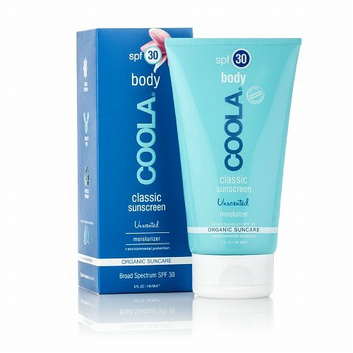 Coola Body Classic Sunscreen, Organic Suncare Moisturizer, Spf 30, Unscented 5 Oz (140 Ml)
