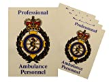 5X Professional Ambulance Personnel Car / Vehicle Window Badge FREE DELIVERY