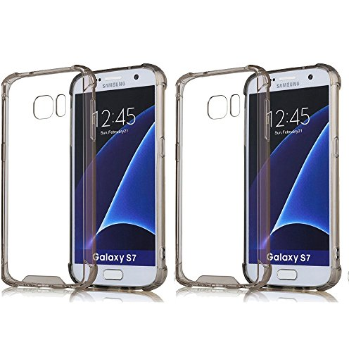 2Pack S7 Case Crystal Clear Slim Bumper Cases ImageLifestlye Shock Absorbing Transparent Protection from Drops and Impacts TPU Gel Rubber Soft Skin Cover for Samsung Galaxy S7 (Flat Screen Scratch Repair Kit compare prices)