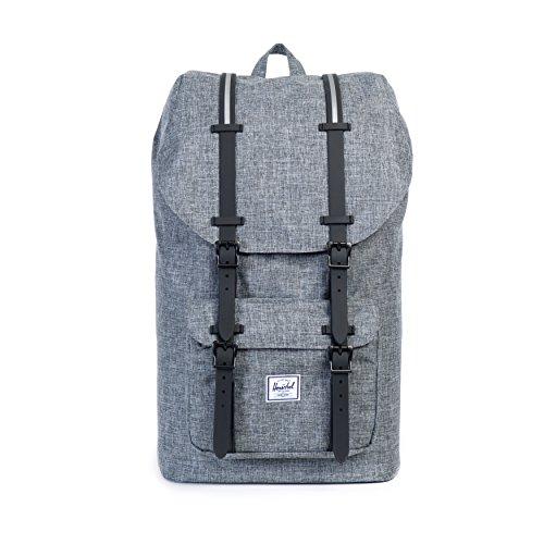 Herschel Supply Co. Little America Backpack, Raven Crosshatch/Black Rubber/3M Insert, One Size (Little America Black Backpack compare prices)