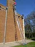 7.96m TRADE MASTER 3 Section Extension Ladder with Integral Stabiliser PLUS Step Platform