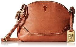 FRYE Campus Zip Cross Body Bag, Saddle, One Size