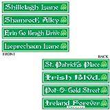 St Patrick s Day Street Sign Cutouts (4 Pkg)