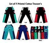 Pushpak Readymades Kid's Stylish Cotton Trousers (Set Of 5)