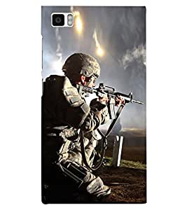 PRINTSHOPPII INDIAN ARMY Back Case Cover for Xiaomi Redmi Mi3::Xiaomi Mi 3
