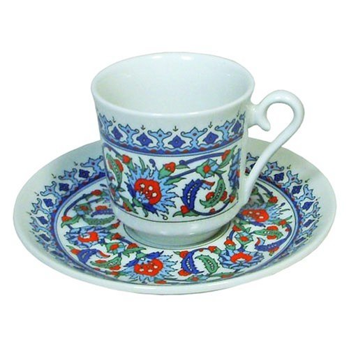 Turkish Coffee Cup and Saucer (6 Sets) 12 Pieces (Turkish Coffee Cups compare prices)