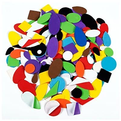 Self Adhesive Craft Foam Assorted Shapes 100 Pieces Approx