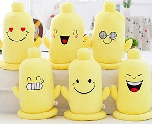 "6 pcs 10"" stuffed short plush MSN Skype Emoticon Expressions Emoji Poop condom shaped neck pillow Cushions nap doll"