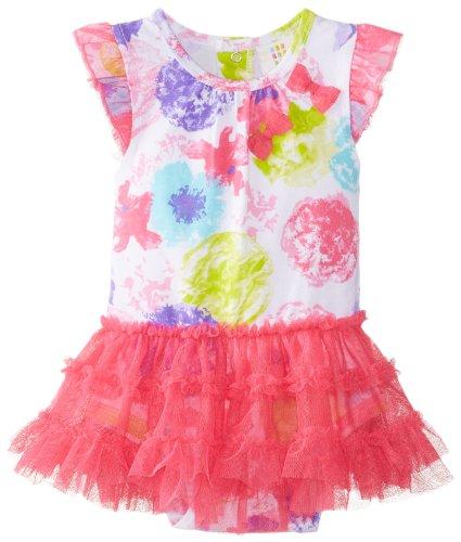 Absorba Baby-Girls Newborn Floral Tutu Dress, Pink/Print, 3-6 Months front-840615