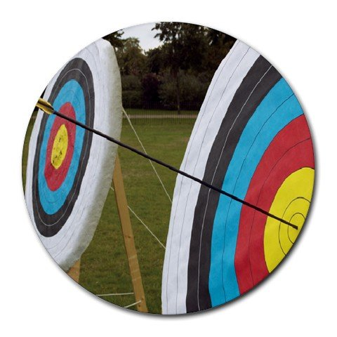 Archery Target Sport Round Mouse Pad
