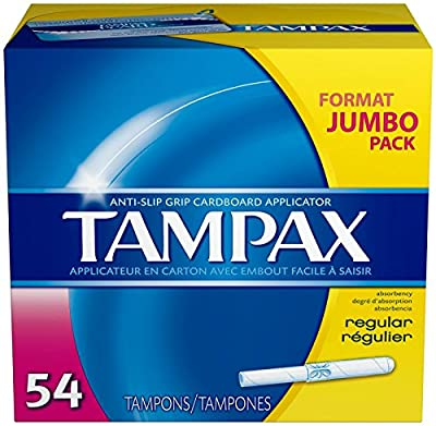 Tampax Anti-Slip Grip Regular Absorbency Tampons - 54 Ct