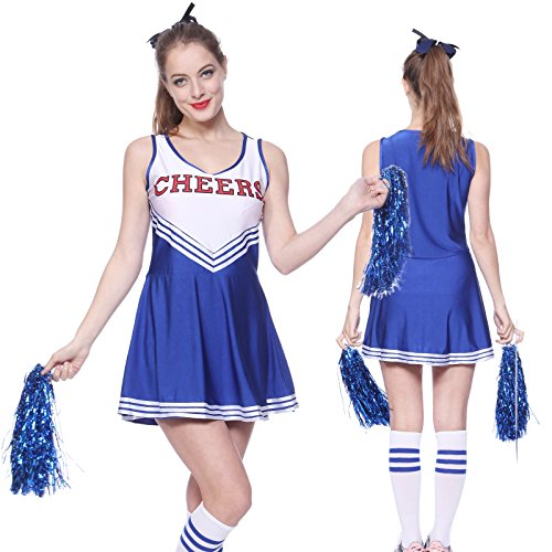 Varsity College High School Cheerleader Costume - Seven Colours - Sizes 4 to 22