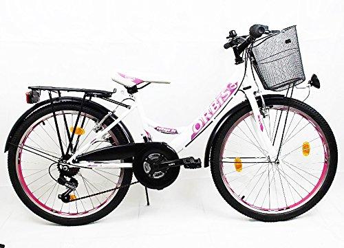 24-ZOLL-Kinder-Fahrrad-Kinderfahrrad-Cityfahrrad-Citybike-Mdchenfahrrad-Bike-VOLTAGE-DAMEN-WEISS