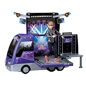 Justin Bieber Tour Bus and Concert Stage
