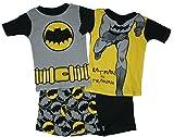 Batman Little Boys 4 Pc Short Cotton Pajama Set
