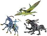 Bundle of 3 James Cameron's Avatar Movie Toy Creatures: Jake's Banshee, Thanator, & Direhorse