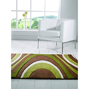 Orleans Honesty Black Red Brown Green Beige Rugs Modern Thick Retro Stylish Cheap Affordable Lounge And Bedroom Rug by Flair Rugs