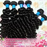 2012 Top Quality Human Hair weft Deep Curly 20