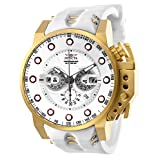 New Mens Invicta 25274 I-Force White Dial Chronograph Rubber Strap Watch (Color: White)