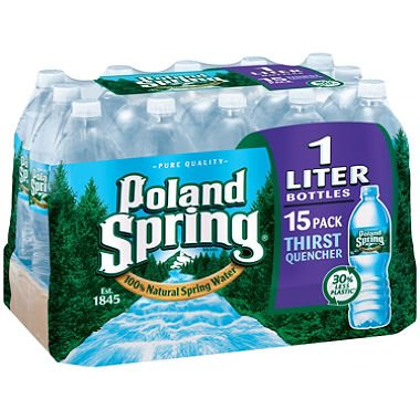Poland Spring® Nat Spring Water - 15/1 L back-47502