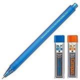 コクヨ 鉛筆シャープ 0.7mm HB・2B替芯付セット フローズン ブルー