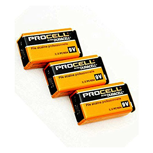 DURACELL PROCELL effector angle battery / 006 P (9V) Pro spec instrument for alkaline Duracell / set 3-Pack
