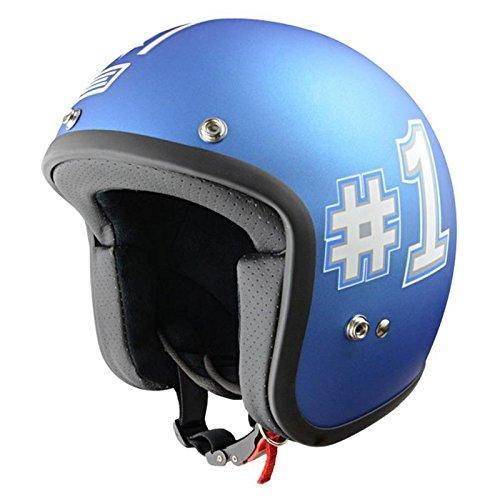 Casque moto jet ORIGINE PRIMO ACROBAZIA - Bleu mat