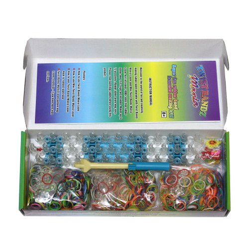 1 Day Sale 25% OFF - The Ultimate Rainbow Loom Deluxe Super Pack Complete with 1800 Rubber Bands and Funky Charms - 3 Types of Magical Colorful Rainbow Bands - Create Awesome Bracelet Designs with this Original Craft Kit -The Perfect gift for Kids