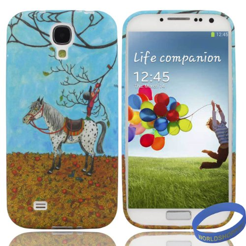 Iwotou Samsung Galaxy S4 i9500 Durable Flexible TPU Gel Case Cover + Accessories (Fashion Series, Autumn Fruit)