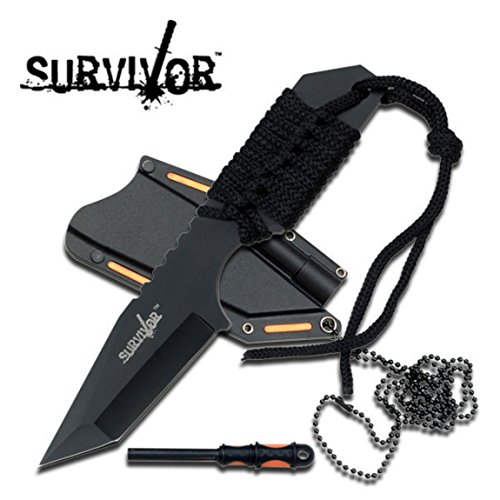 "Survivor Fixed Blade Knife 7"" Overall Hk-762Bk"