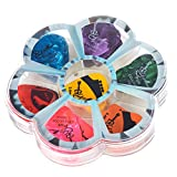 Guitar Picks Pack of 75 (Tanbi Music P203): Assorted Celluloid Thin, Medium and Heavy Gauge